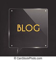blog, 玻璃, 插圖, 圖象