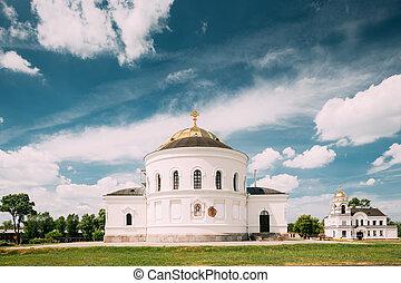 brest, 教堂, 大教堂, 要塞, 街, 英雄, 紀念館, 複雜, nicholas, 駐軍, brest, belarus.