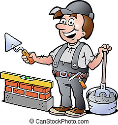 bricklayer, 插圖, 愉快