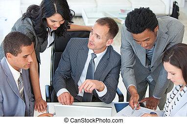 businessteam, 事務, 工作, 計劃, 一起