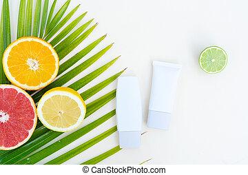 c, 關心, 柑橘屬, 美麗, 血清, 水果, 維生素, 油
