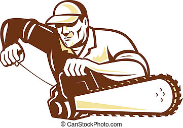 chainsaw, 樹木栽培家, 外科醫生, 樹, lumberjack