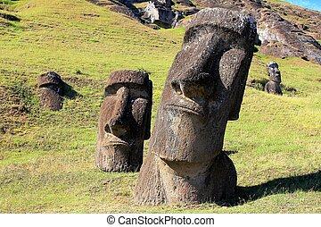 chil, 采石場, 復活節, moai, 島