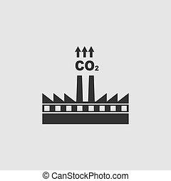 co2, 圖象, 套間, 工厂煙囪, 污染, 煙云霧