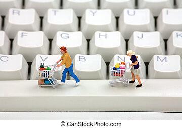 concept., 在网上購物