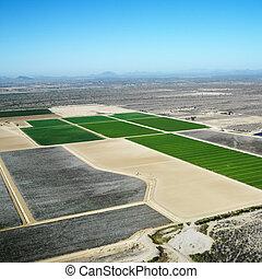 croplands., 空中
