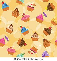 cupcakes, seamless, 背景