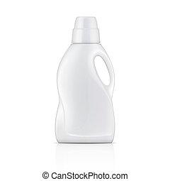detergent., 白色, 洗衣房, 瓶子, 液体