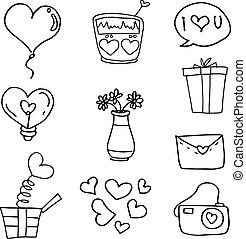 doodles, 主題, 愛, 插圖