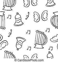 doodles, 主題, 矢量, 音樂, 插圖