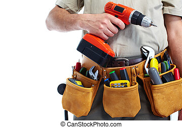 drill., 工具, 做零活的人, 腰帶