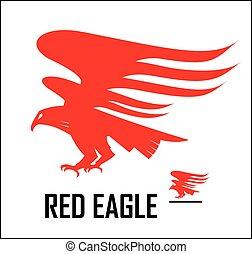 eagle., 鷹, 紅色