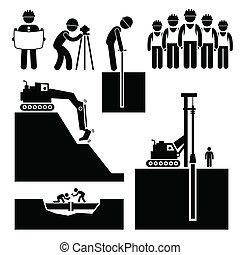 earthwork, 建設工人, 圖象