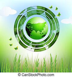 eco, 地球, 設計