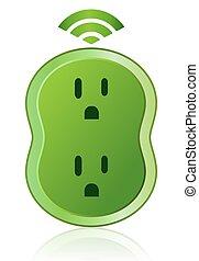 eco, 聰明, 出口, 圖象, 綠色 力量