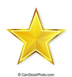 eps, 圖象, 晴朗, 星, 背景, 黃金, 白色