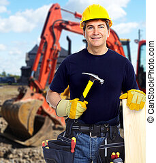 excavator., 建設工人