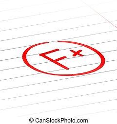 f, 等級, 後者, 加上, 結果, 檢查, mark., 紅色