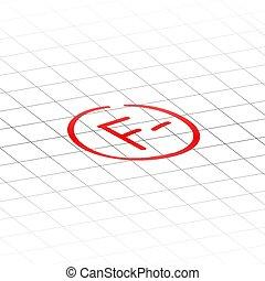 f, 等級, 後者, 減去, 檢查, 結果, mark., 紅色