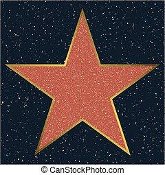 fame., 好萊塢, 樣板, 星步行, 空白