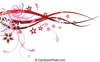 flourishes, 紅色