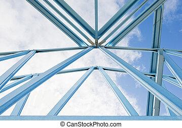 framing., 新, 建設, 家
