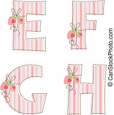 g, h, 補綴品, e, f, alphabet.