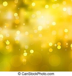 glittery, 10, eps, 黃色, 背景。, 聖誕節