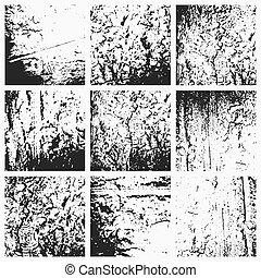 grunge, 彙整, vector., textures.