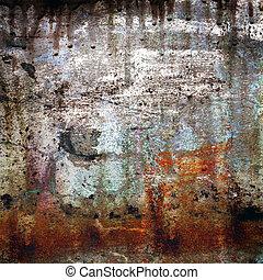 grunge, 背景, rusty-colored