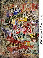 grunge, 背景, textured