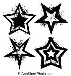 grunge, 集合, 星