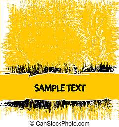grunge, 黃色的背景