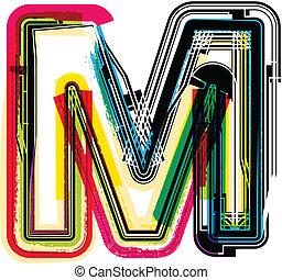 grunge, m, 鮮艷, 信
