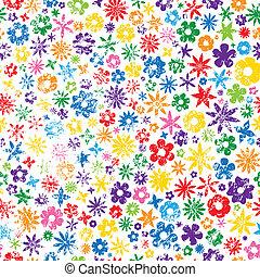 grungy, 花, 鮮艷, 背景