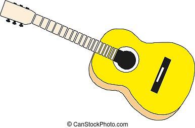 guitar., 音樂, instruments., 矢量, illustration.