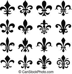 heraldic, de, lys, 第一流, fleur