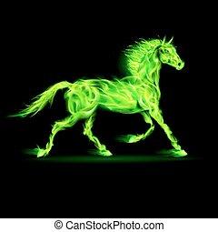 horse., 火, 綠色