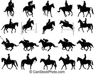 horsemen, 黑色半面畫像