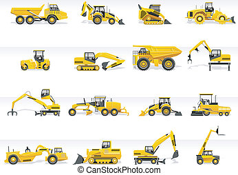 icon., 矢量, 運輸, 拖拉机