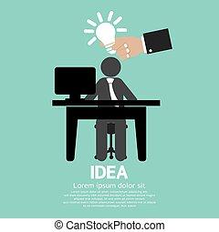 idea., 光, 商人, 燈泡