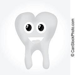illustartion, 白色 背景, 牙齒