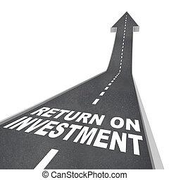 improvment, 返回, 向上, 路, 成長, 主要, 投資