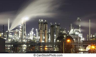 indutry, 油, 气体, -, 工廠, 化學的精煉厂