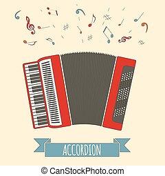 instrument., 音樂, 手風琴