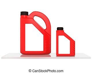 jerrycans, 機器潤滑油, 汽車, -, 被隔离