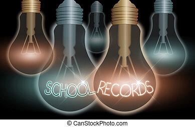kept, records., 學校, 資訊, biography., 寫, 詞, 生意概念, 孩子, 正文, 大約