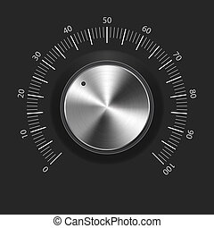 knob), 按鈕, 金屬, 結構, (music, 卷, (chrome)