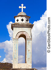 kouris, reservoir., 教堂, alassa, cyprus.