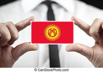 kyrgyzstan, 事務, 旗, 藏品, 商人, 卡片